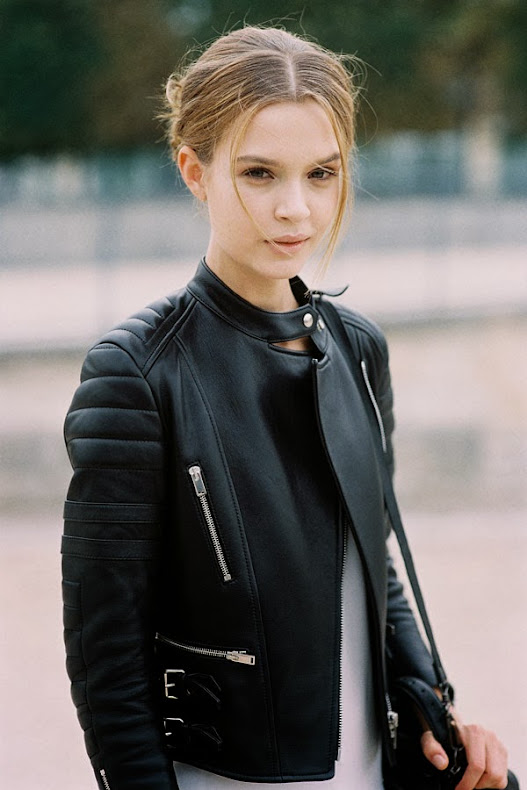 Paris leather jacket