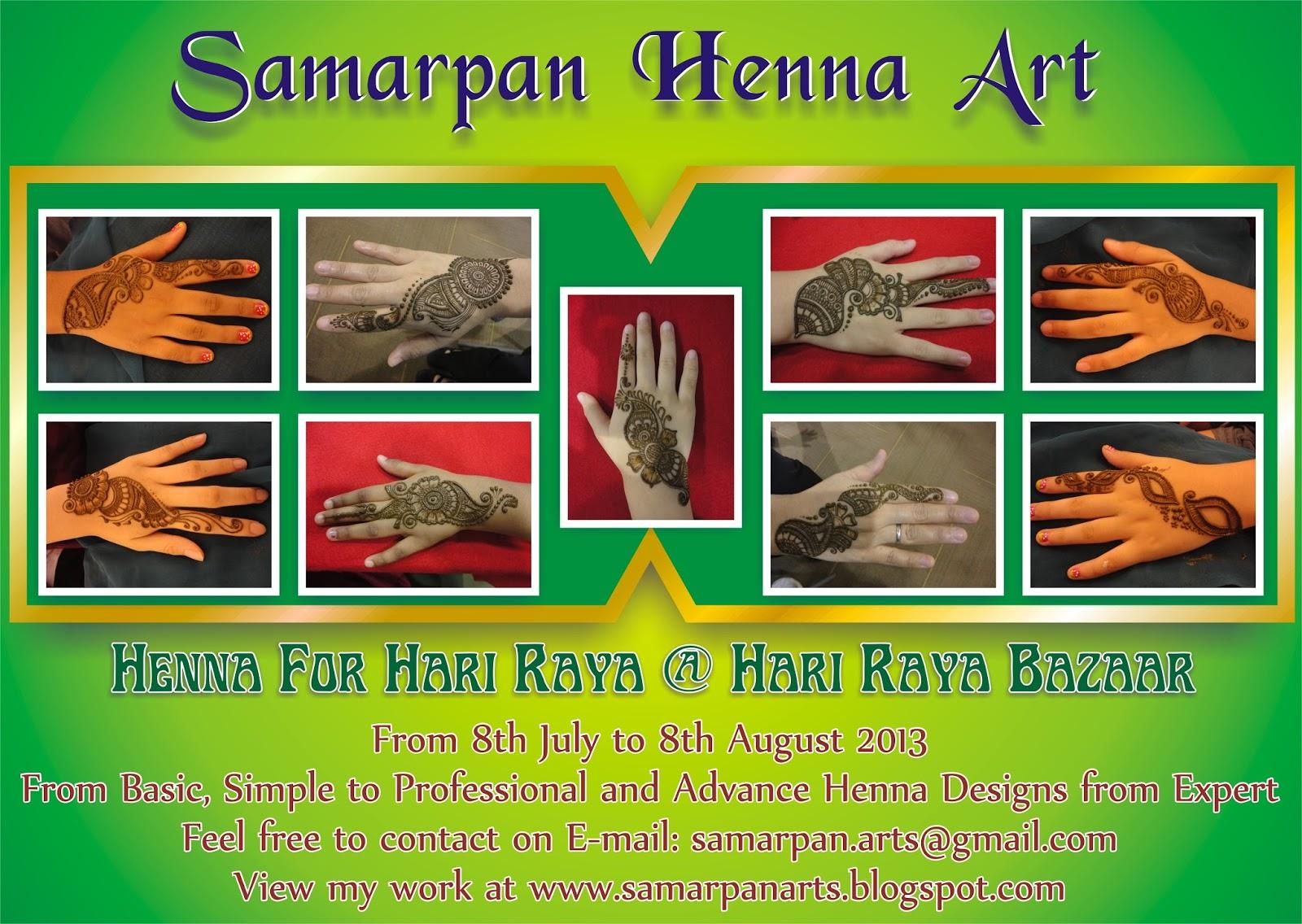Samarpan Arts Henna For Hari Raya