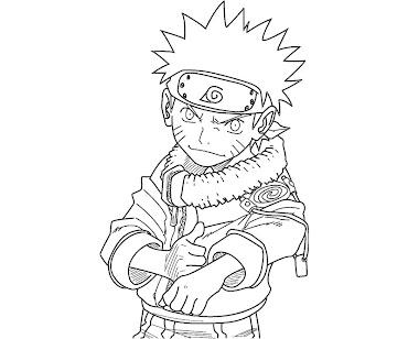 #5 Naruto Coloring Page