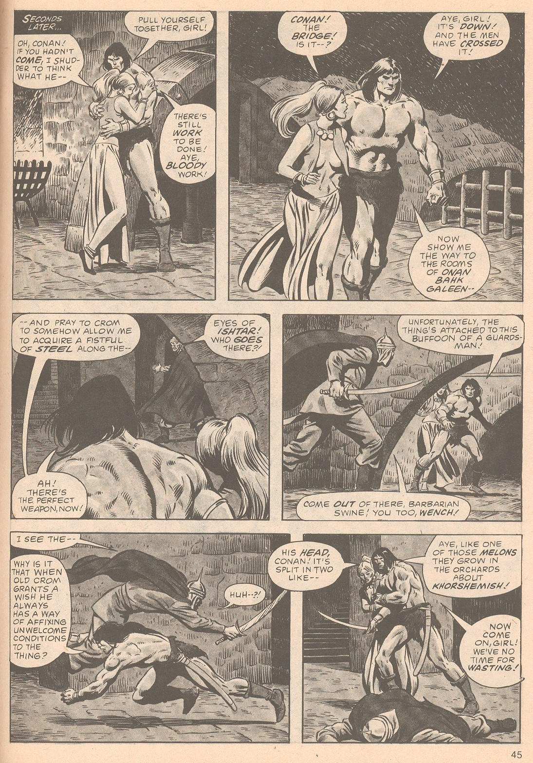 The Savage Sword Of Conan Issue #63 #64 - English 45