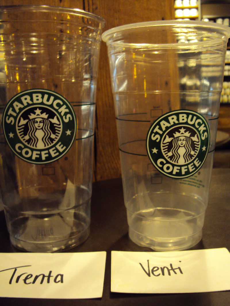 live seattle online blog starbucks trenta cup vs wine bottle