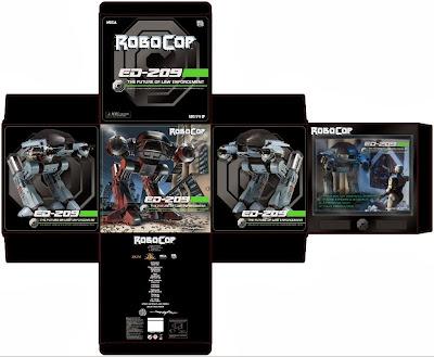 NECA Robocop ED-209 Figure Packaging Mock-Up