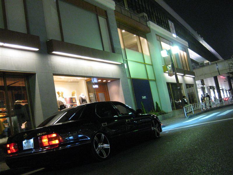 luksusowy sedan, japoński, prestiżowe samochody, Toyota Celsior UCF20, silnik V8, napęd na tył, miasto w nocy, zdjęcia, galeria