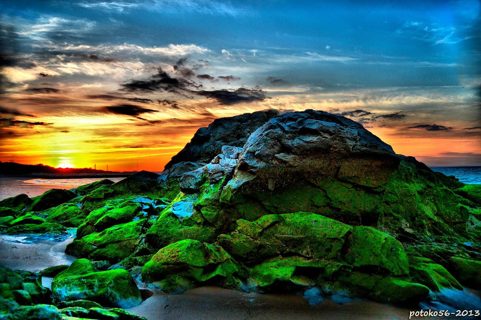 Rocas de barro como testigos del amanecer