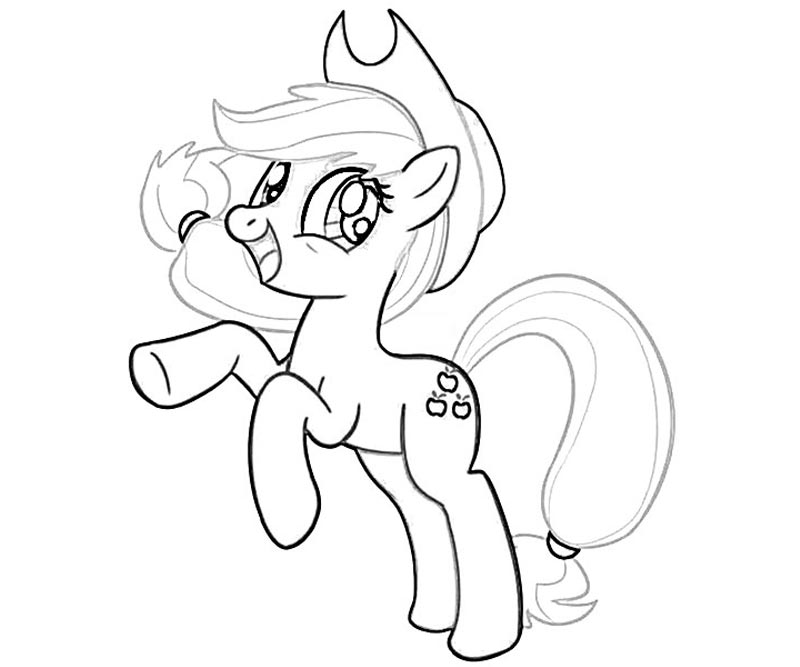 10 My Little Pony Applejack Coloring Page Applejack Coloring Page