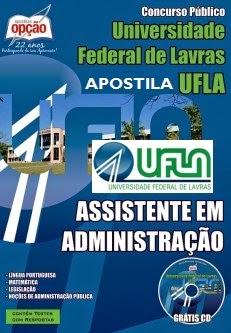 Apostila Concurso UFLA - MG - Assistente em Administração
