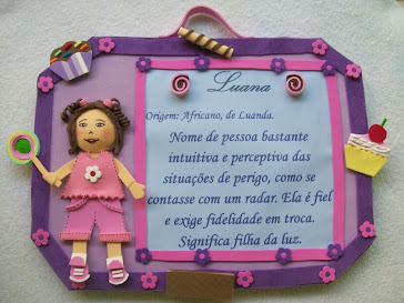 QUADRO SIGNIFICADO DO NOME EM EVA