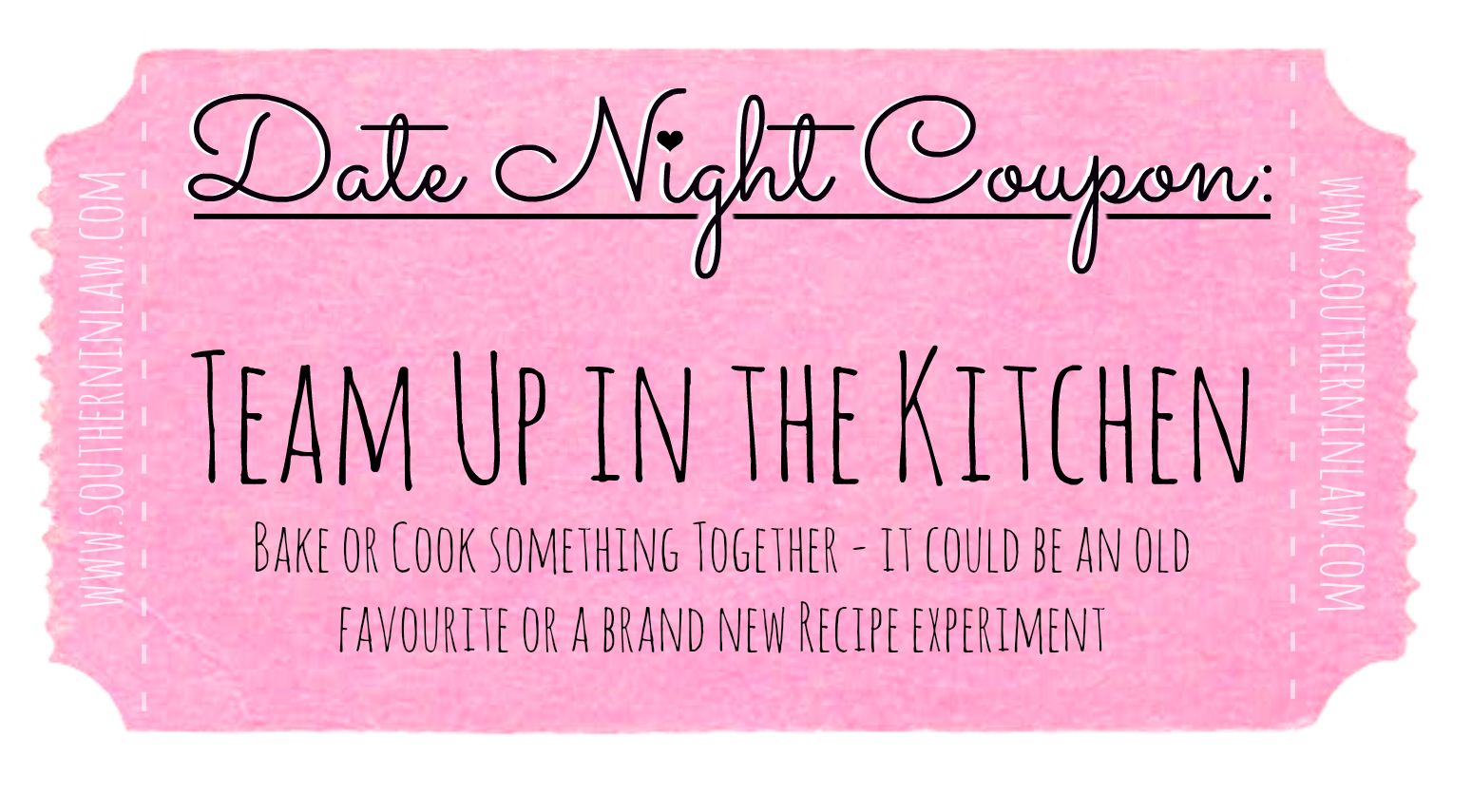 Cheap Date Ideas - Date Night Coupons - Cook or Bake Together