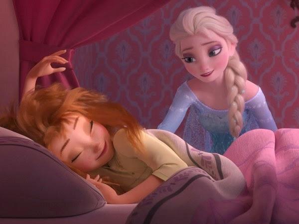 Los personajes Elsa y Anna en una imagen del cortometaje Frozen Fever de Disney.