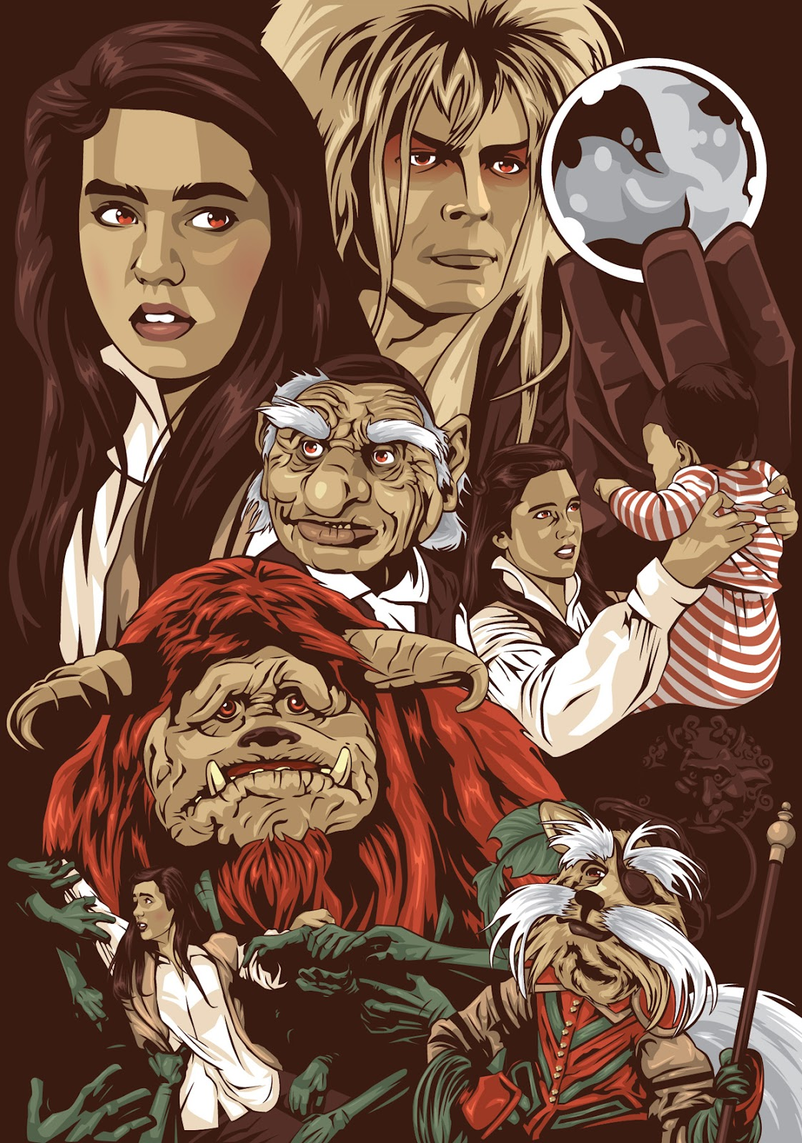 The Geeky Nerfherder: Cool Art: Labyrinth by Mark Reihill Labyrinth 1986 Poster