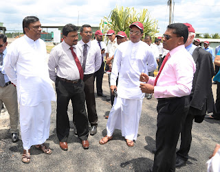 Dharmasiri Dasanayake – the Chief Minister of the North Western Province,  Jayantha Wijerathna, Chief Secretary – NWP,  Sujeewa Senasinghe - State Minister of International Trade and  Sandeeptha Gamalath -Managing Director, Jiffy Products Sri Lanka.