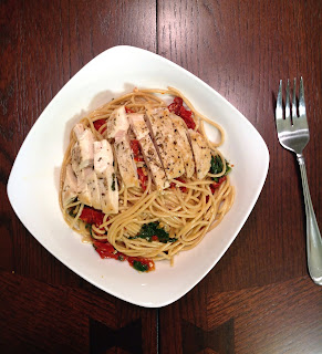 chicken spinach tomato pasta