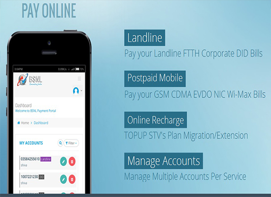 BSNL upgraded Online Payment Portal for better user experience    Create your account today for more added features-2