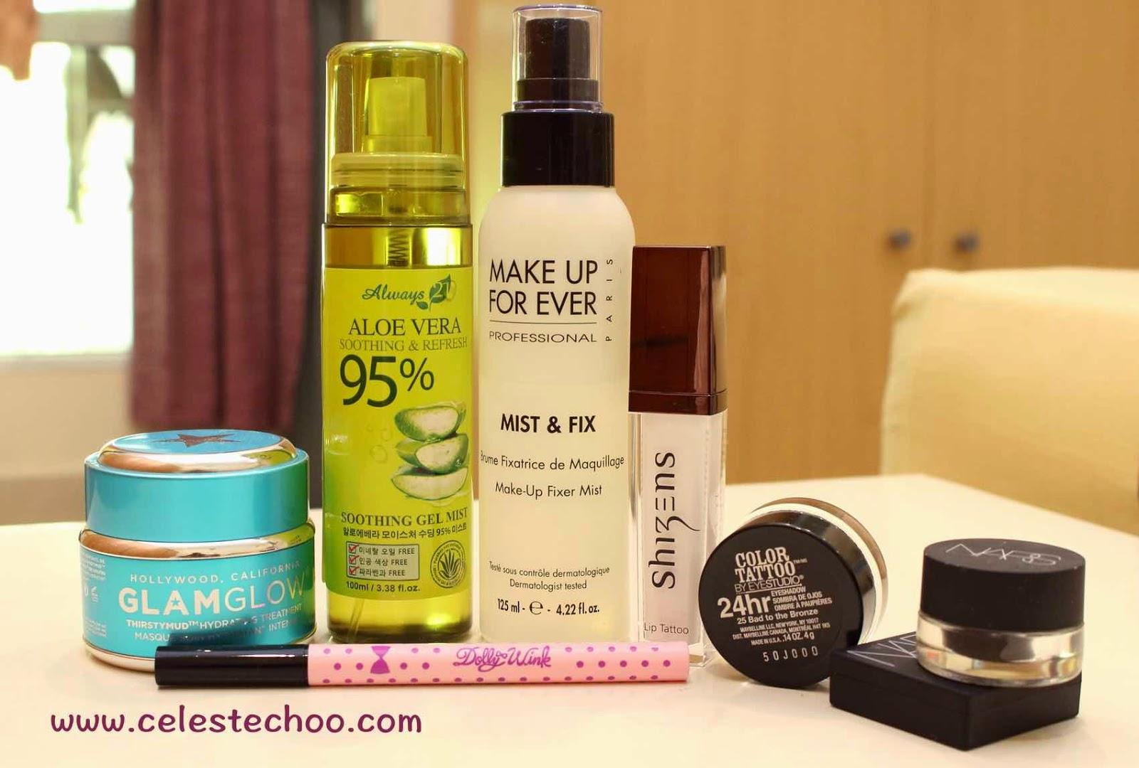mud-mask-gel-mist-makeup-eyeliner-eyeshadow