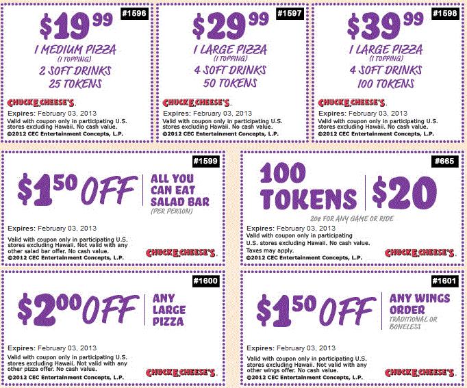 chuck e cheese 2015 coupons