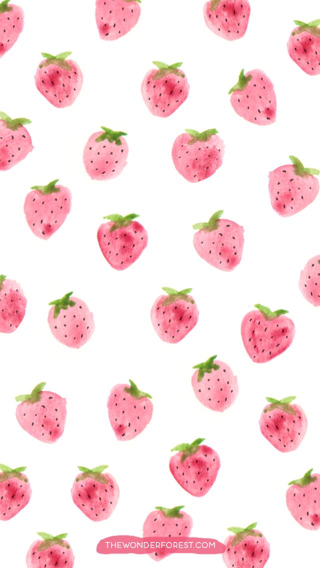 kawaii strawberry wallpaper vintage - photo #17