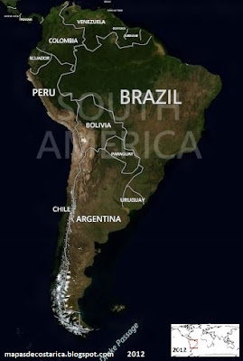 Ubicacin de Brasil en Sudamrica, BING