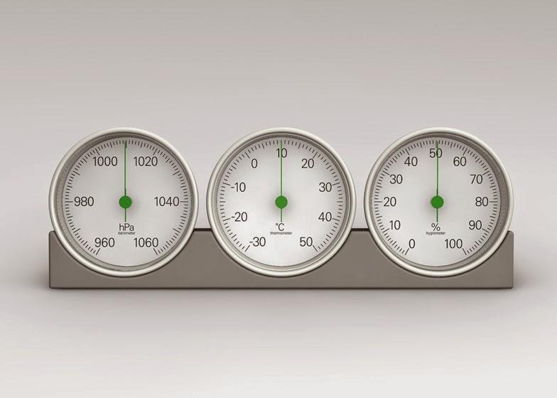 Meteo weather gauges by Naoto Fukasawa.