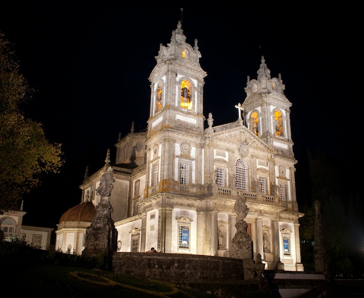 bom jesus monument church in braga portugal