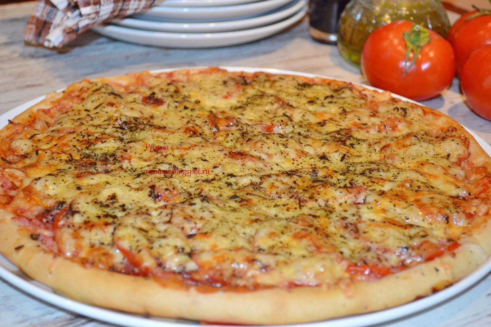 Как сделать пиццу в домашних условиях рецепт из хлеба