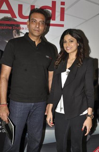 Shamita Shetty and Ravi Shastri at Audi magazine launch
