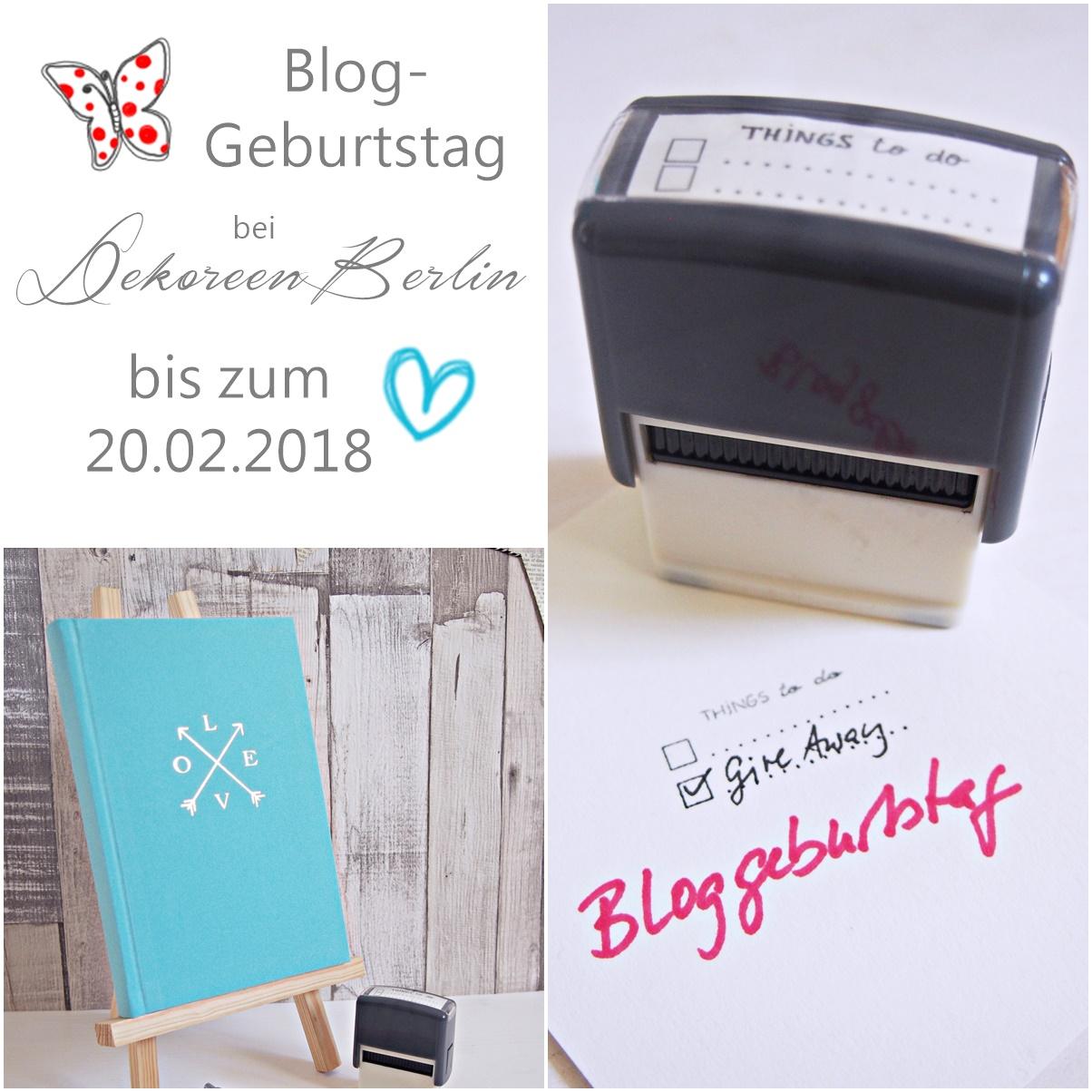 Bloggeburtstag bei DekoreenBerlin