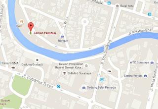 peta Taman Prestasi Surabaya