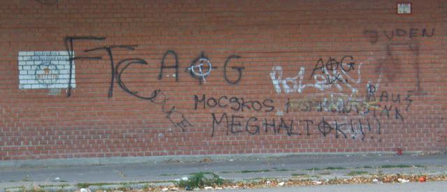 Ferencváros, Népliget, Duce, AOG, Juden Raus, antiszemitizmus, gyűlölet, tolerancia, Budapest, IX. kerület, Fradi, street art, graffiti, falfirka, urban art