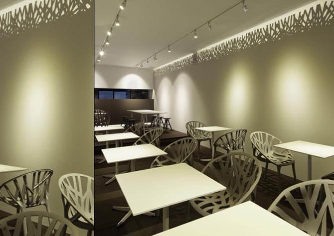 Modern artistic ag restaurant interior furniture design for Modern cafe interior designs