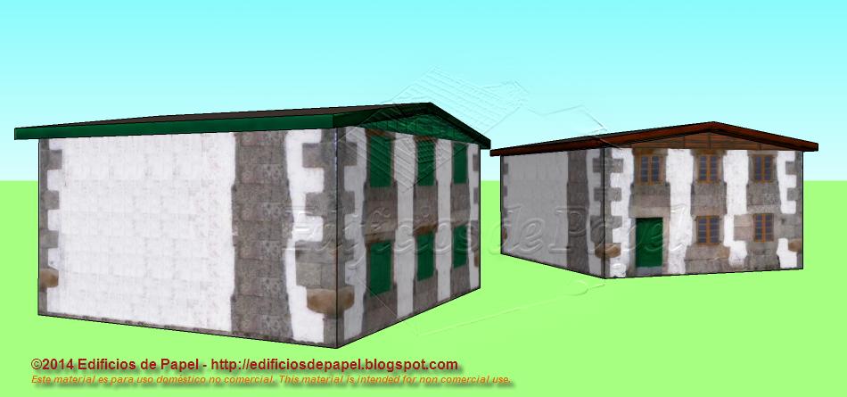 Maquetas de preciosas casitas de campo gallegas