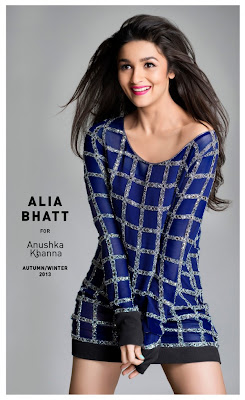 alia bhatt latest wallpaper,Alia Bhatt latest wallpapers in Anushka Khanna's Autumn Winter Sports Wear 2013