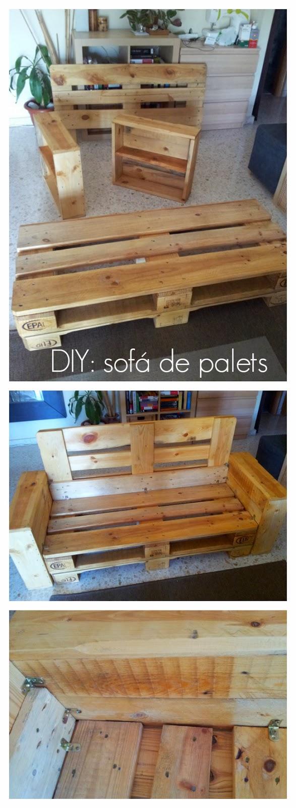Diy c mo hacer un sof con palets - Sofas con palets ...