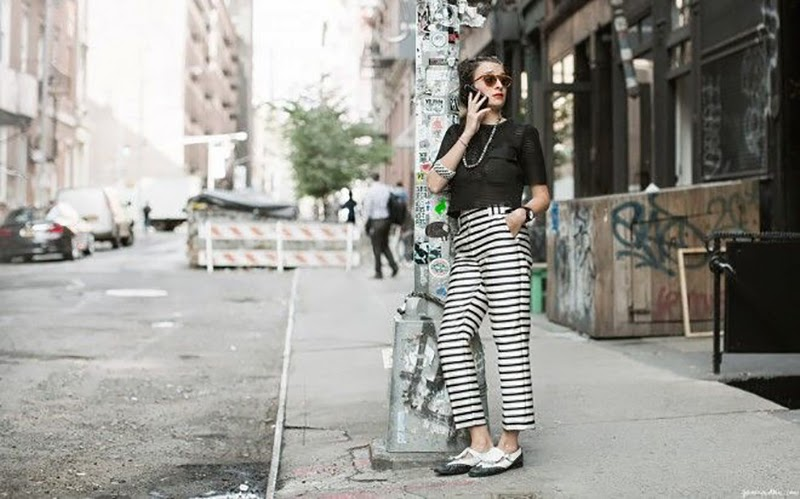 How to wear black and white in Summer