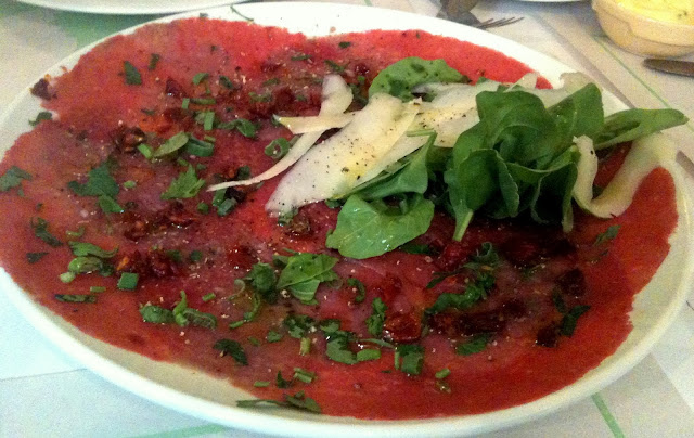 Best Karachi restaurants - Beef Carpaccio at Okra
