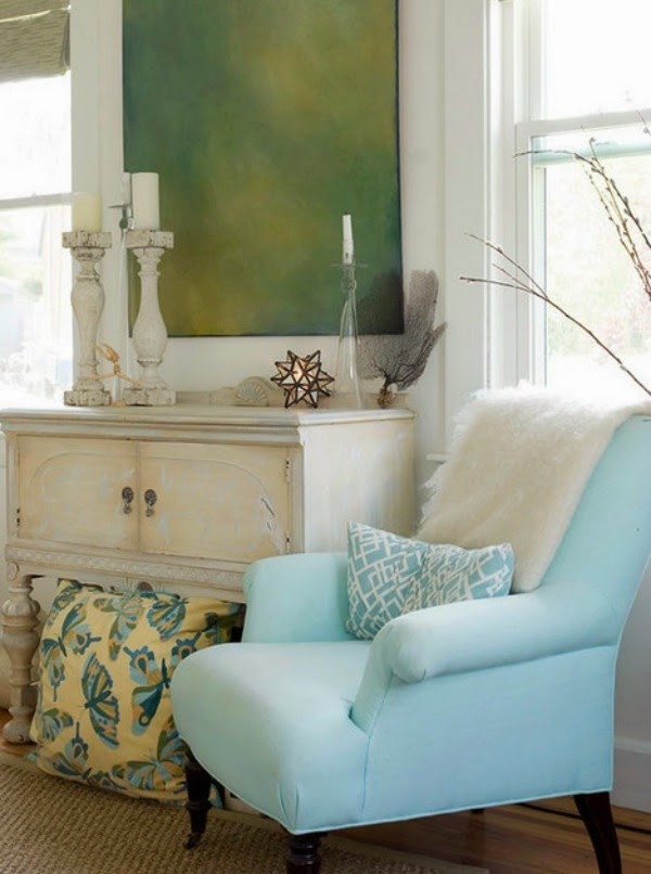 blue comfy chair