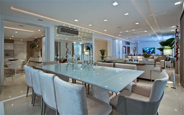 Sala De Jantar Bege E Branca ~ Salas de jantar brancas e off whites – veja modelos lindos e dicas