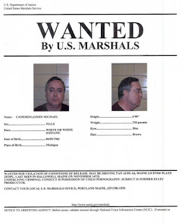 Federal Wanted Poster for James Cameron, Federal Defendant