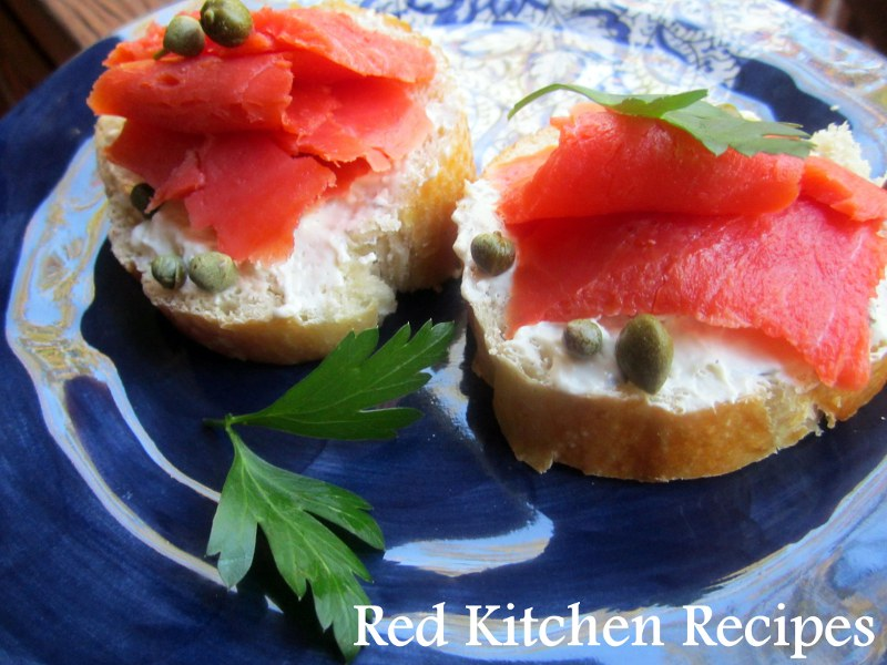 Red Kitchen Recipes: Smoked Salmon Crostini