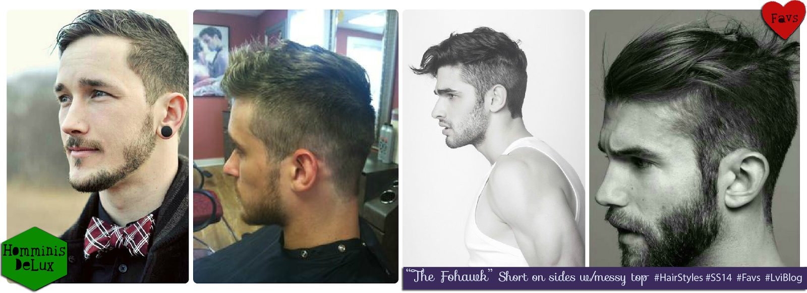 SS14 HairStyles for Men: The Fohawk. L-vi.com by LuceBuona
