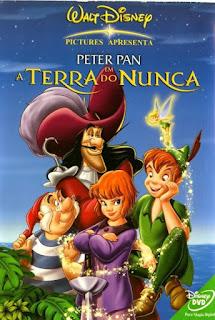 Capa da animação Peter Pan - De volta a Terra do Nunca