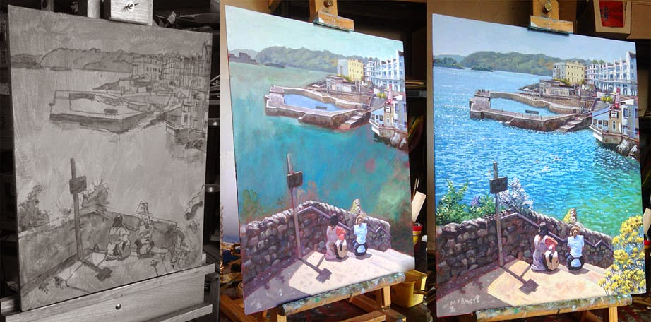 plymouth WIP acrylic painting artist Martin Davey