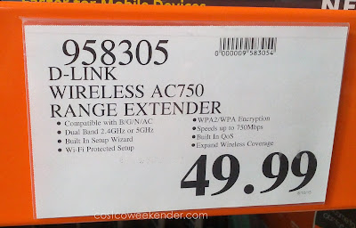 Deal for the D-Link AC750 Wi-Fi Range Extender at Costco