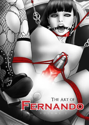 the art of fernando bdsm fetish bondage illustrator