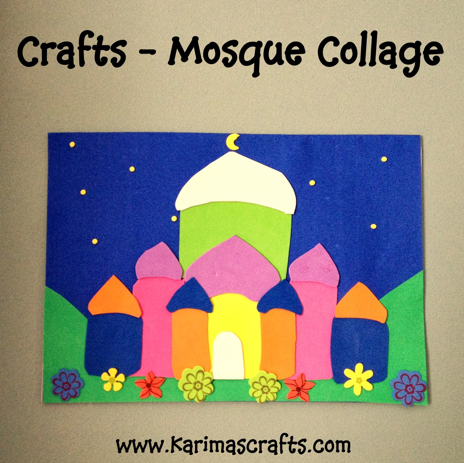 karima s crafts mosque collage   30 days of ramadan crafts