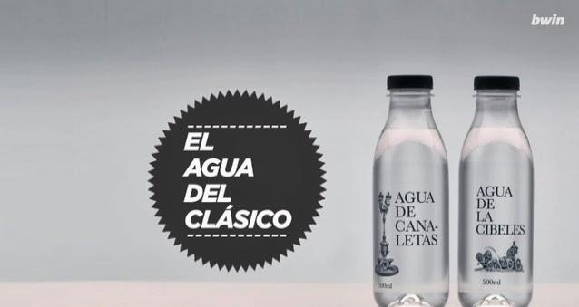 botella de agua de canaletas y de cibeles
