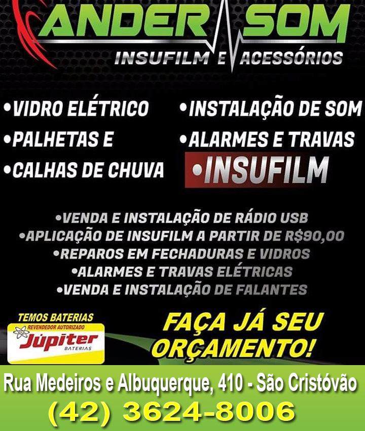 ALARMES E SOM AUTOMOTIVO É COM ANDERSOM