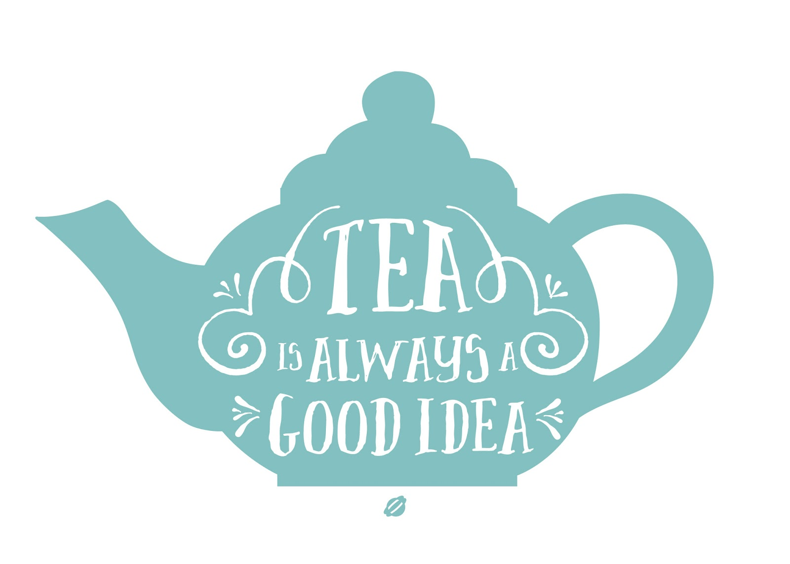 LostBumblebee ©2014 Tea is Always a Good Idea Free Printable Personal use Only.