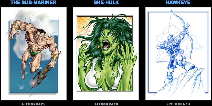 Namor - She Hulk - Hawkeye