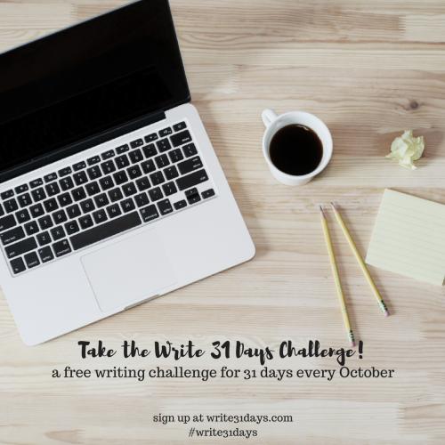 2016 Write 31 Days Challenge