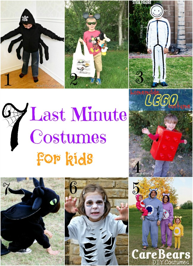 Last Minute Costumes for Kids that are easy and cheap to make